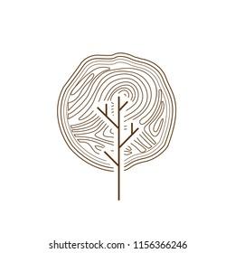tree monogram logo