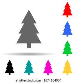 tree multi color style icon. Simple thin line, outline vector of web icons for ui and ux, website or mobile application
