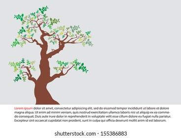 tree natural design over beige background vector illustration