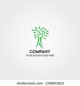 Tree nature business company logo template