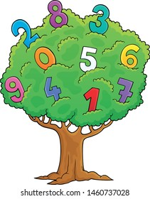 Tree with numbers theme image 1 - eps10 vector illustration.