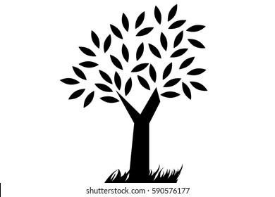 tree on white vector