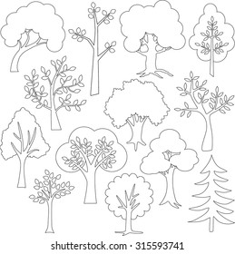 tree outlines