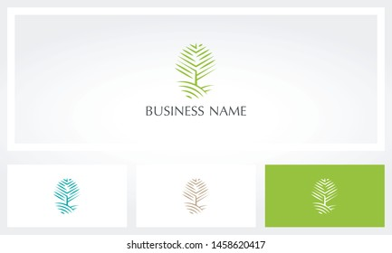 Tree Outlines Hill Nature Logo