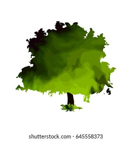 Tree of paint stains. Vector