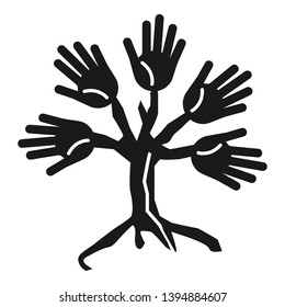 Tree people cohesion icon. Simple illustration of tree people cohesion vector icon for web design isolated on white background
