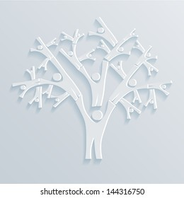Tree People vector illustration