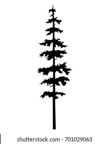 tree pine silhouette vector logo tattoo template design, tree pine vector, tattoo silhouette wood vector, cypress illustration - wood forest tattoos