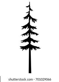 tree pine silhouette vector logo tattoo template design, tree pine nature, tattoos silhouette vector, tattoo tribal tree template.