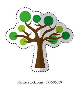 tree plant ecology symbol vector illustration design