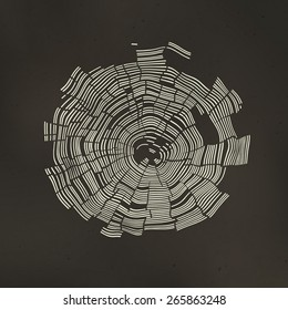Tree Rings Background. Template for annual reports, brochures, etc