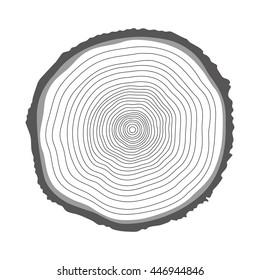Tree rings illustration. Vector illustration.