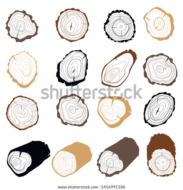 Tree Rings Set Cross Section Tree Stock Vector Royalty Free 1456991186 Pikbest have found 176 tree rings design images templates used for commercial. shutterstock
