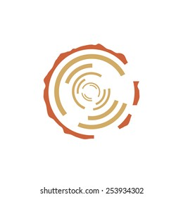 Tree rings vector sign Branding Identity Corporate logo design template Isolated on a white background