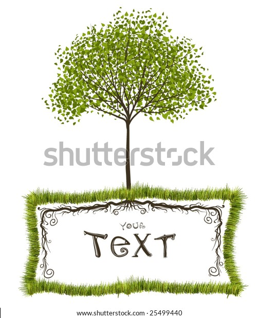 Tree Roots Frame Nature Vector Design Stock Vector Royalty Free 25499440