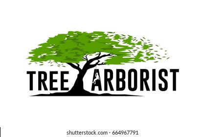 Tree service logo template