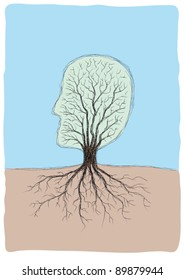 tree shaped head