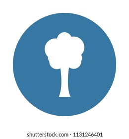 tree silhouette icon in Badge style