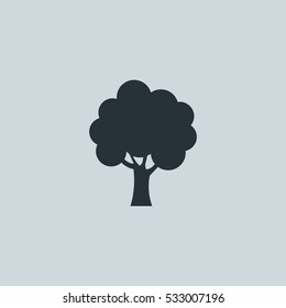 Tree silhouette Icon, Vector