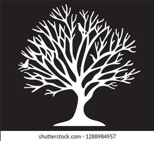 Tree silhouette laser cut vectir