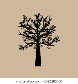 Tree Silhouettes. Abstract tree. Vector illustration