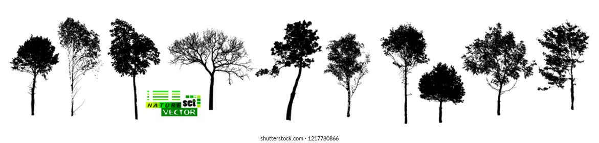 Tree Silhouettes Set