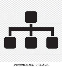 Tree Structure Icon Illustration