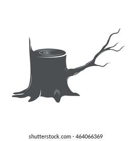 Tree Stump. Vector illustration.