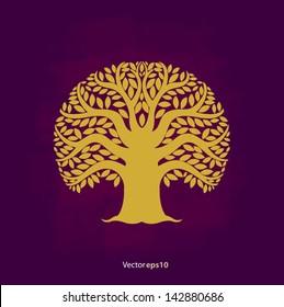 Tree symbol Asia style, vector illustration