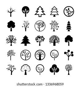 Tree Symbols Icon Set
