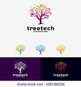Tree Technology Logo Designs Concept