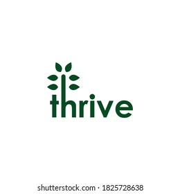 Tree Thrive Logo Design Vector eco