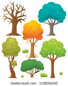 Tree topic collection 2 - eps10 vector illustration.
