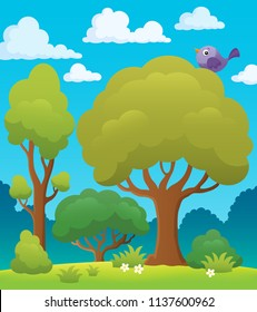 Tree topic image 7 - eps10 vector illustration.