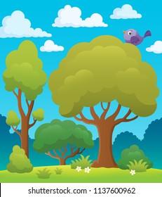 Tree topic image 7 - eps10 vector illustration.