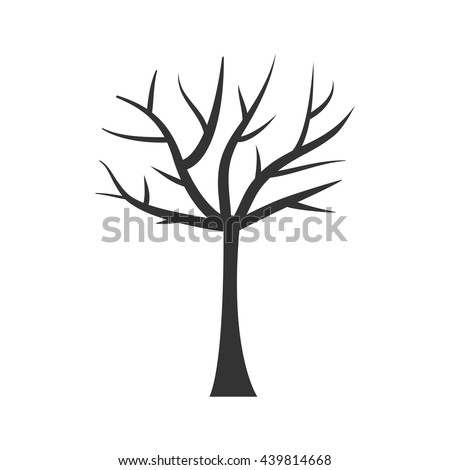 Tree Trunk Silhouette Tree Branch Plant Stock Vektorgrafik