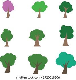 Tree vecter desuign use for graphic