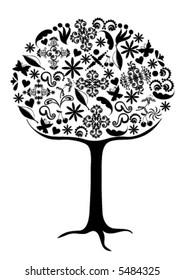 Tree vector.
