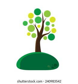 Tree Vector Circle Leaf. Vector illustration EPS10.
