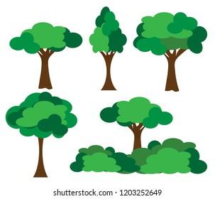 Tree vector of five tree