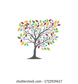Tree Vector ,hand drawn,  illustration of  Olive tree vector design template