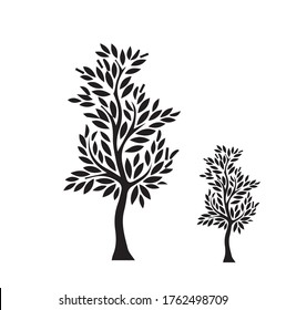 Tree Vector Icon Illustrator Isolated Background