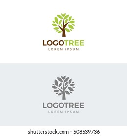tree vector icon. logo design elements.