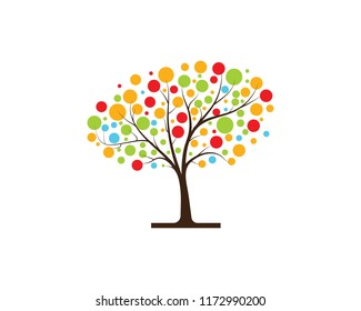 tree vector icon logo green design