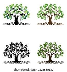 tree vector logo, illustration for trees