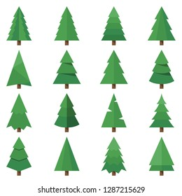 tree vector set images
