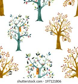 tree, watercolor, baby