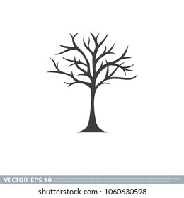 tree without leaves icon vector