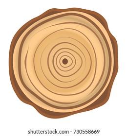 Tree wood year ring. Vector isolated icon
