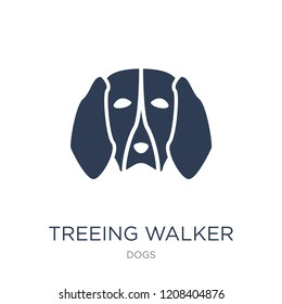 Treeing Walker Coonhound dog icon. Trendy flat vector Treeing Walker Coonhound dog icon on white background from dogs collection, vector illustration can be use for web and mobile, eps10